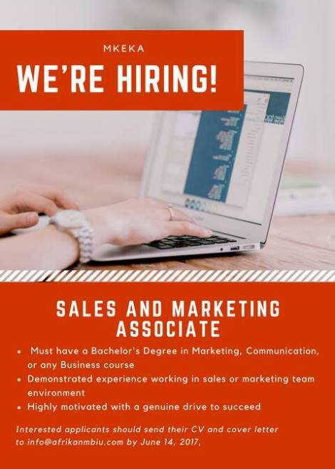 sales and marketing job